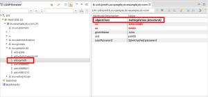 Created LDAP account, result in LDAP