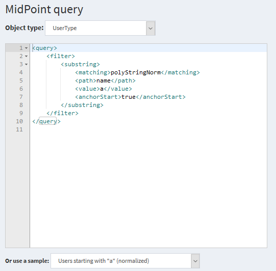 midPoint query text