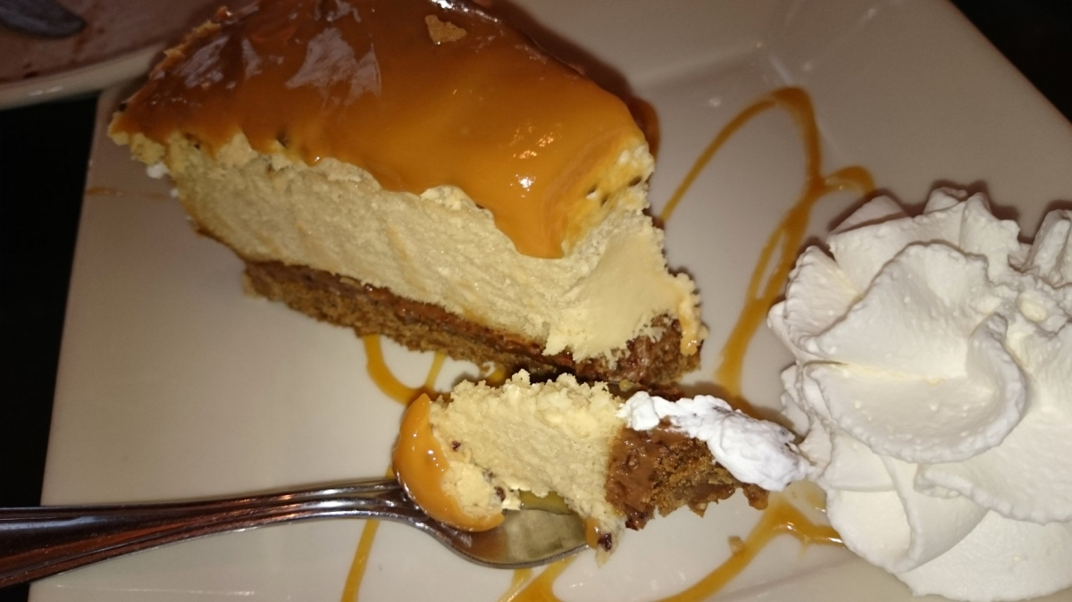 Sometimes the trainer deserves some cheesecake dessert as well.